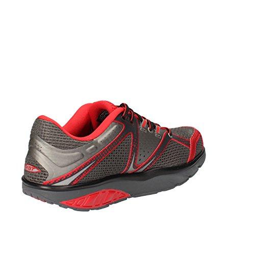 MBT Sneakers Uomo Grigio Rosso Tessuto