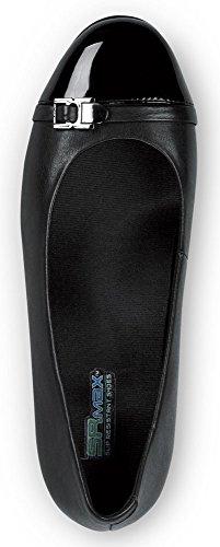 Sr Max Isabela Vrouwen Antislip Kleding Wedge Shoe Black