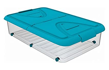 PLASTIKEN - Caja Bajo Cama C/Ruedas Lila Plastiken 60 L