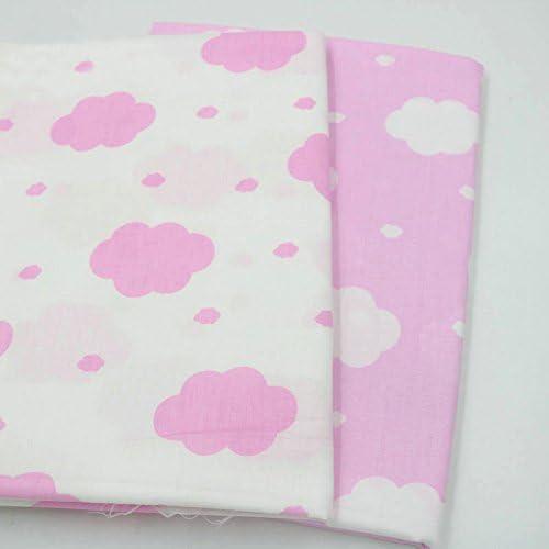 2 piezas 50 cm * 160 cm nubes impresas tela de algodón telas para hacer patchwork, telas tilda, retales de telas, tela algodon por metros: Amazon.es: Hogar