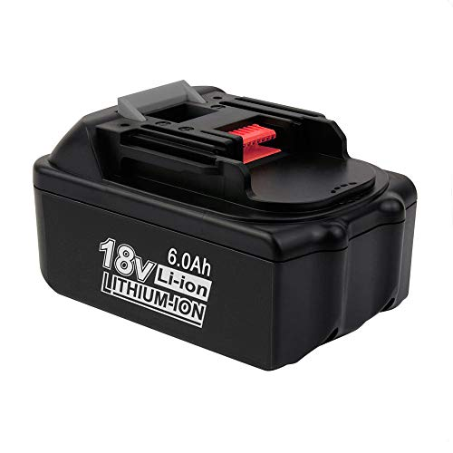 18V 6.0Ah BL1860 Lithium-Ion Replacement for Makita 18V Battery BL1860B BL1850 BL1840 BL1850B-2 BL1845 BL1815 BL1820 BL1830 LXT-400 18-Volt Cordless Power Tools Batteries