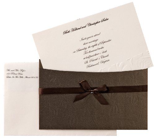 Wilton Embossed Flower Pocket Invitation -