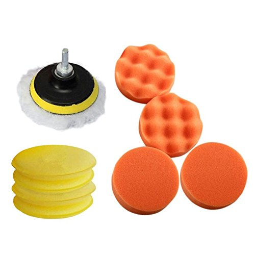 Wall of Dragon 11pcs/Set Sponges Waves Plate Compound Car Multicolor Polishing Tools Drill Adapter Dec 15 by Wall of Dragon