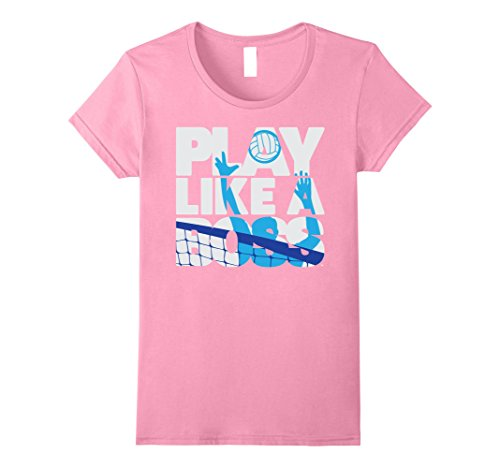 Womens Cool PLAY LIKE A BOSS Men's Volleyball Shirt Large...