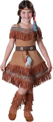 InCharacter Costumes Girl's Indian Maiden Costume, Tan, 10 by InCharacter Costumes, LLC - (Sacagawea Costumes For Kids)