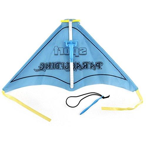 Fiaya Kids Paragliding Flying Hang Glider Slingshot Set Launcher Catapult Outdoor Toy (blue) ()