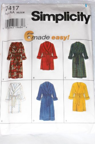 Simplicity Sewing Pattern 7417 - Use to Make - Unisex Robes - 6 Styles - Sizes XS, S, - Patterns Harry Potter Costume
