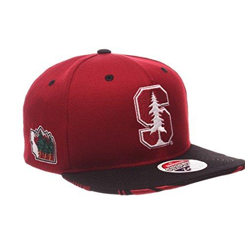NCAA Stanford Cardinal Adult Men's Drop Step Snapback Hat, Adjustable Size, Team Color