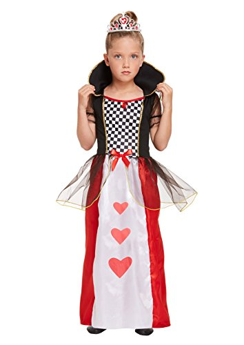 Rimi Hanger Queen of Hearts Children Fancy Costume Girls Party Wear Dress Wonderland outfit Medium