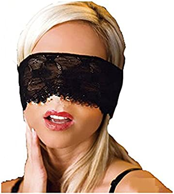 419b7f6b8 Amazon.com  Edtoy Black Sleeping Lace Eye Mask Blindfold Nightwear Costume  Masquerade Ball Party Upper Face Mask  Sports   Outdoors