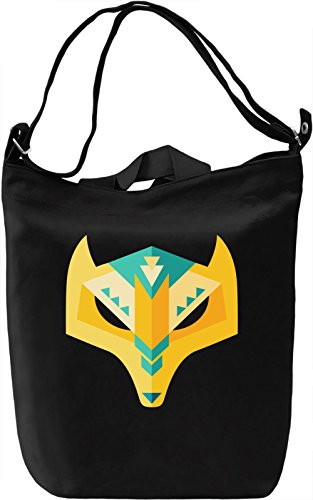 Low poly mask Borsa Giornaliera Canvas Canvas Day Bag| 100% Premium Cotton Canvas| DTG Printing|