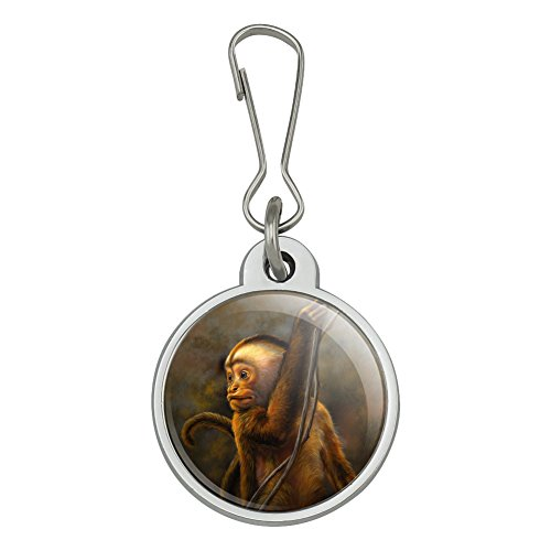 (Capuchin Monkey Organ Grinder Jacket Handbag Purse Luggage Backpack Zipper Pull Charm )