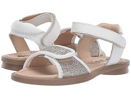 (Old Soles Baby Girl's Martini Sandal (Toddler/Little Kid) Glam Cream/Snow 28 M EU)