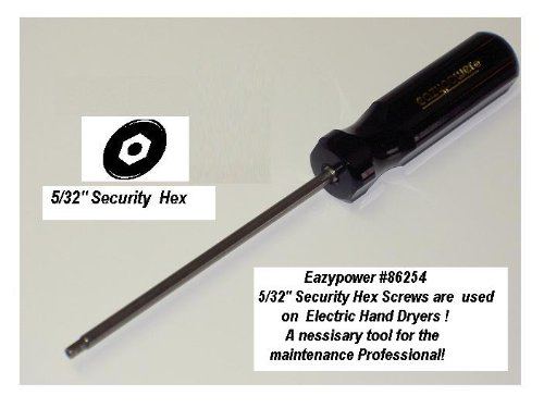 Eazypower 86254 9-Inch 5//32-Inch Sec Hex S//D CD