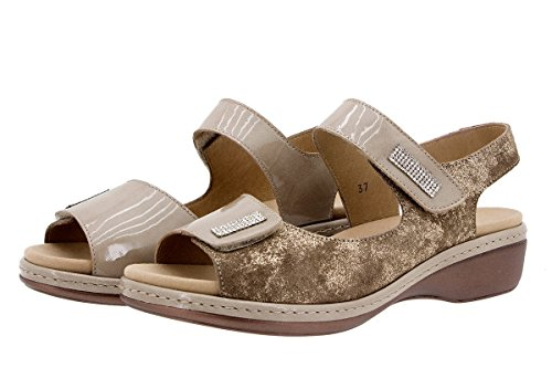 Visón En Confortables Amples Femme Chaussure Amovible Confort Sandales À 1818 Cuir Piesanto Semelle p7qxHnBw1