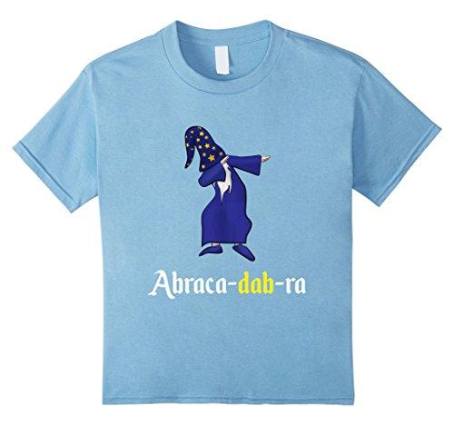 Kids Hilarious Dabbing Wizard Abracadabra Tshirt 6 Baby Blue