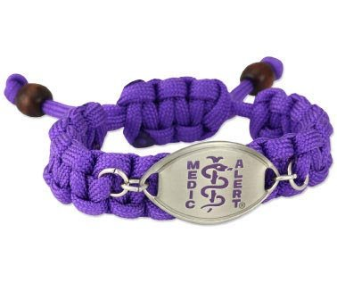 MedicAlert® Coastal Paracord Medical ID Bracelet Connected to 24/7 Emergency Health Record
