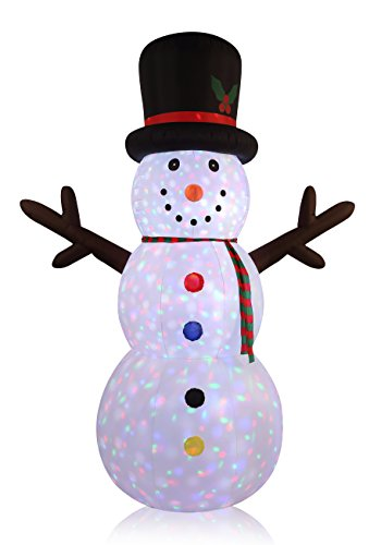 (12FT Inflatable Flashing Light Snowman Indoor Outdoor Christmas Holiday)