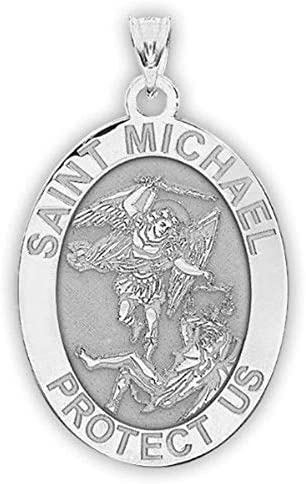 Saint Michael OVAL Religious Medal product image