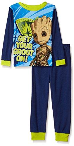 Galaxy Pajama Pants (Marvel Big Boys' Guardians Of The Galaxy 2-Piece Cotton Pajama Set, Navy, 10)