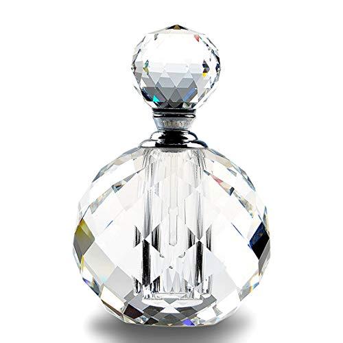 H&D HYALINE & DORA Crystal Art Deco Vintage Style Perfume Bottles Empty Glass Refillable 10ml