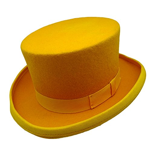 50's Style Costumes Australia (HATsanity Kid's Vintage Wool Felt Topper Hat Dark Yellow)