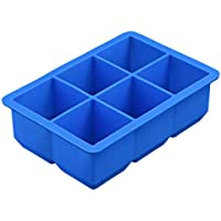 Ice Cube Trays - Large Ice Cube Tray Makes 6 Cubes - These Big Ice Cubes Are Slow Melting To Keep Your Drink Fresh Longer