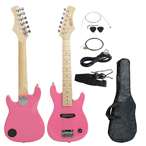 ZENY 30″ Kid's Electric Guitar Much More Guitar Combo Accessory Kit, Pink