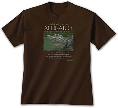 Advice from an Alligator - XXL T-Shirt Dark Chocolate, Novelty Gift Apparel