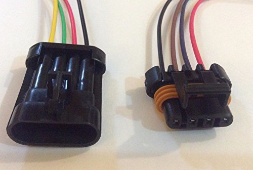 1 X Female and Male Ls1 Ls6 Ignition Coil Wiring Harness Pigtail Connector Gm ()