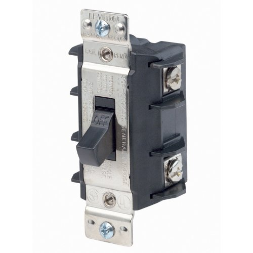 Leviton MS302-DS 30 Amp, 600 Volt, Double- Pole, Single Phase AC Motor Starter, Suitable as Motor Disconnect, Industrial Grade, Non-Grounding, - 600v Starter