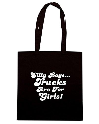 T-Shirtshock - Bolsa para la compra FUN0334 130b silly boys decal 44012 Negro