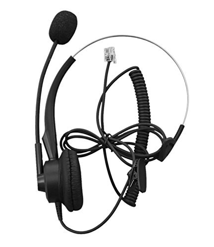 Audicom Corded Call Center Headset Headphone with Mic for