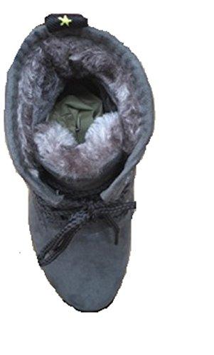 Koo-T Damen Stiefel & Stiefeletten Grau