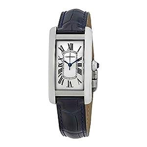 Cartier Tank Americaine Automtic WSTA0017 - Reloj de Pulsera para Mujer, Esfera Plateada 6