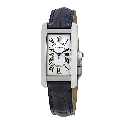 (Cartier Tank Americaine Automtic Silver Dial Ladies Watch WSTA0017)