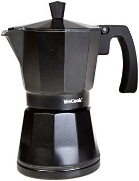 WECOOK 30109 Cafetera Aluminio Luccia Apta inducción, 9 Tazas ...