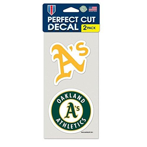 "MLB Oakland Athletics 2-Piece Die-Cut Decal, 4"" x 8"""