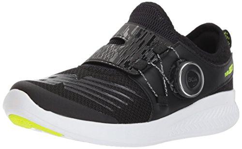 New Balance Boys' Boa v1 Running Shoe, Black/Hi Lite, 11 W US Little Kid ()