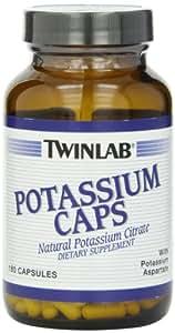 Twinlab Potassium Capsules, 180 Count (Pack of 3)