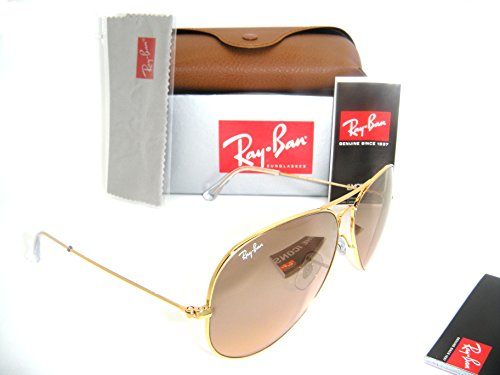 Ray-Ban Aviator Gold Frame w/ Pink Silver Mirror RB 3025 001/3E 62mm - Gold Lens Aviator Ray Black Ban Frame