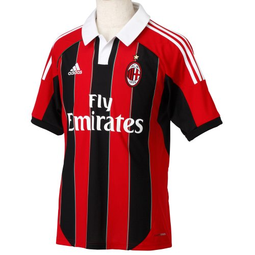 adidas 2012-13 AC Milan Home Football Shirt Size Adult L