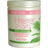 Hawaiian Silky 30008 no base relaxer, mild, White, 20 Ounce