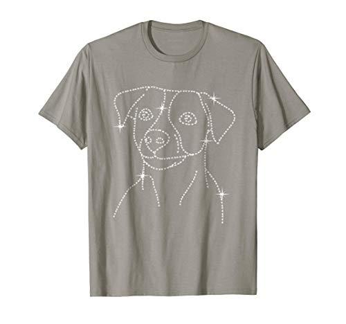 Jack Russell Terrier Silhouette - Vintage Diamond Jack Russell Terrier T-Shirt Dog Lover Gift