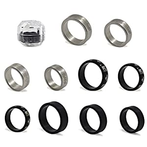 YDZN 3 Styles Strong Magnetic Ring PK Magic Tricks Magic Props Coin Magic Tricks Halloween Christams Gift