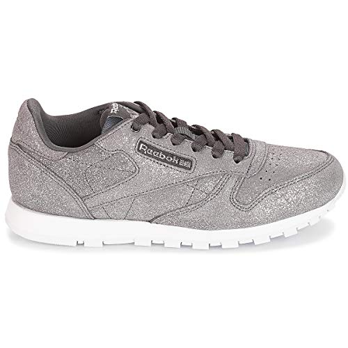 ms pewter De Classic ash w Chaussures 0 Multicolore Femme Fitness Grey Leather Reebok Hw8xn66