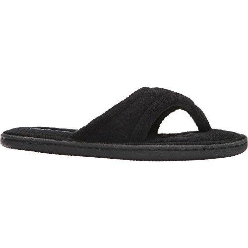 Tempur-pedic Women's Airsock Thong Slipper Black 9 M US