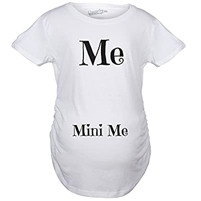 Maternity Me and Mini Me Funny T shirts Cute Baby Bump Tees Announce Pregnancy T shirt