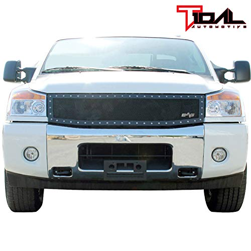 (Rivet Stainless Steel Wire Mesh Grille for 04-07 Nissan Titan)