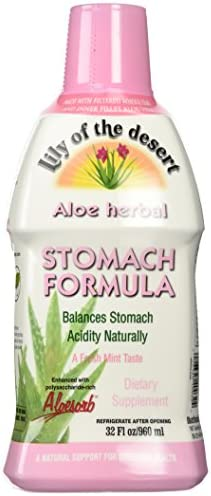 Lily of The Desert Aloe Herbal Stomach Formula Fresh Mint, 32 Fluid Ounce